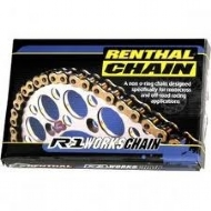 CORRENTE RENTHAL 520x118 R1 WORKS CHAIN - GOLD S/ RETENTOR - C127