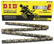 CORRENTE DID GOLD MOTOCROSS ATÉ 450 CC PLACAS EXTERNAS DOURADAS 520DZ2 120L GB - 049527