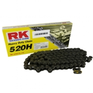 CORRENTE RK 520H X 120 HEAVY DUTY S/ RETENTOR C/ CLIPS - CR 125/230/250 + KXF 250 + YZ125/250F
