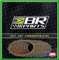 DISCO EMBREAGEM CR 250 2T 90-01 + CRF 450R/X 02-10 + KXF 450 06/14 + KLX 450 08-13 - 8 DISCOS  KIT BR PARTS- 0131207