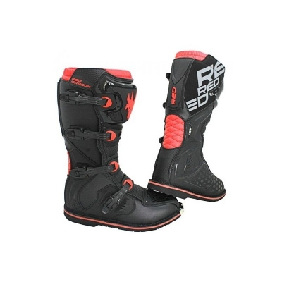BOTA RED DRAGON ACTION PRETA/VERM -  12USA/45BRA - ACT-12