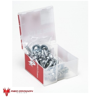 KIT PARAFUSOS DE PLASTICO CRF 250R 14-16 + CRF 450R 13-16 - RED DRAGON - BKF-101