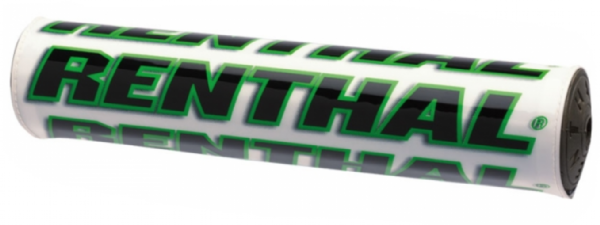 PROTETOR DE GUIDAO RENTHAL CROSSBAR MINI (WHITE/GREEN) - 205MM - P269