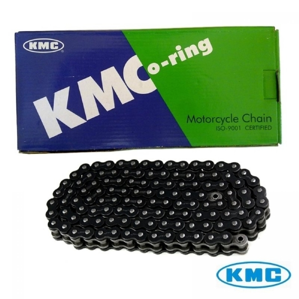 CORRENTE KMC 520UO X 118 ELOS - CINZA C/ RETENTOR - OFF ROAD 125-450cc - 012213
