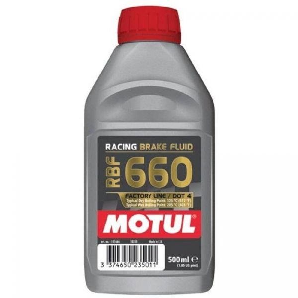FLUIDO DE FREIO MOTUL RBF 660 - DOT 4 RACING BRAKE FLUID - 500ML - 106224
