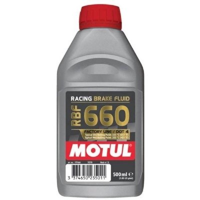 FLUIDO DE FREIO MOTUL RBF 660 - DOT 4 RACING BRAKE FLUID 500ML - MT325