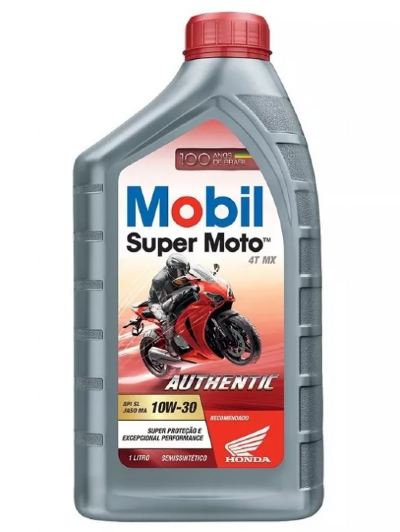 ÓLEO P/ MOTOR MOBIL SUPER MOTO 4T MX 10W-30 AUTHENTIC - 1 LITRO - SEMISSINTÉTICO -