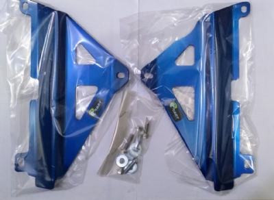 PROTETOR RADIADOR MX YZF 250 19-20 + YZF 450 18-20 - ALUMÍNIO AZUL - START RACING - 3mm - S331A