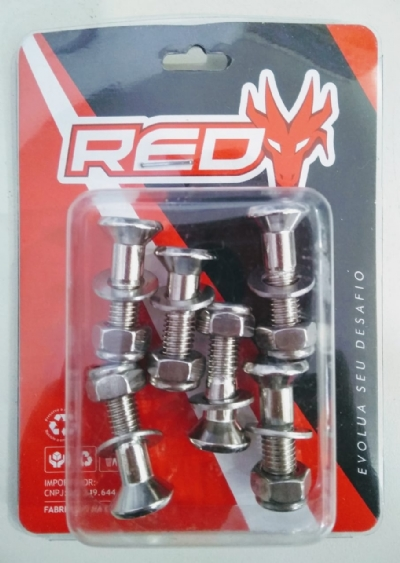 KIT PARAFUSO COROA - 18 PCS M8X25mm - RED DRAGON - SB-01