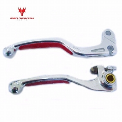 MANETE DE FREIO + EMBREAGEM CRF 250R 07-20 + CRF 450R 07-20 - RED DRAGON - O PAR - 01-LSR-1263