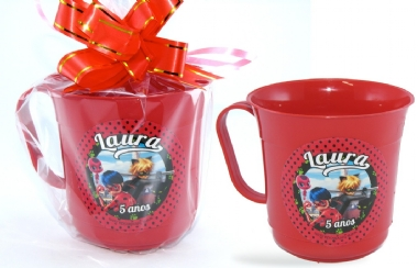 Caneca Plástica Personalizada Miraculous IMG-117638
