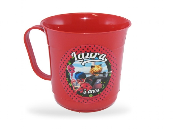 Caneca Plástica Personalizada Miraculous IMG-693414