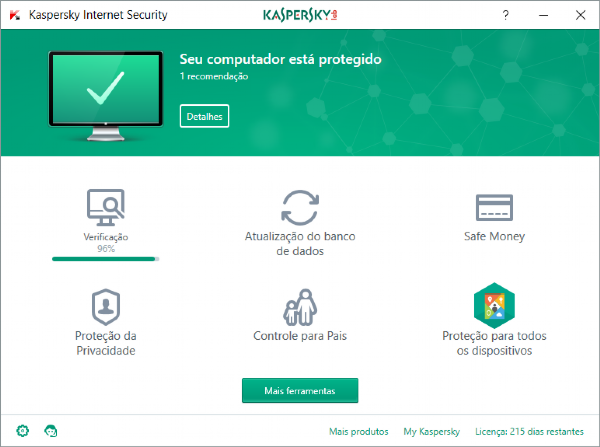 Kaspersky Internet Security - 3 Dispositivos, 1 ano