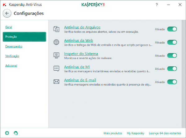 Kaspersky Anti-Virus - 3 dispositivos, 1 ano