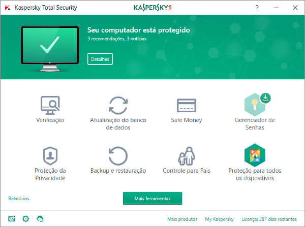 [TOP3] Kaspersky Total Security - 5 Dispositivos +2 PASSWORD MANAGER +1 SAFE KIDS, 1 ano