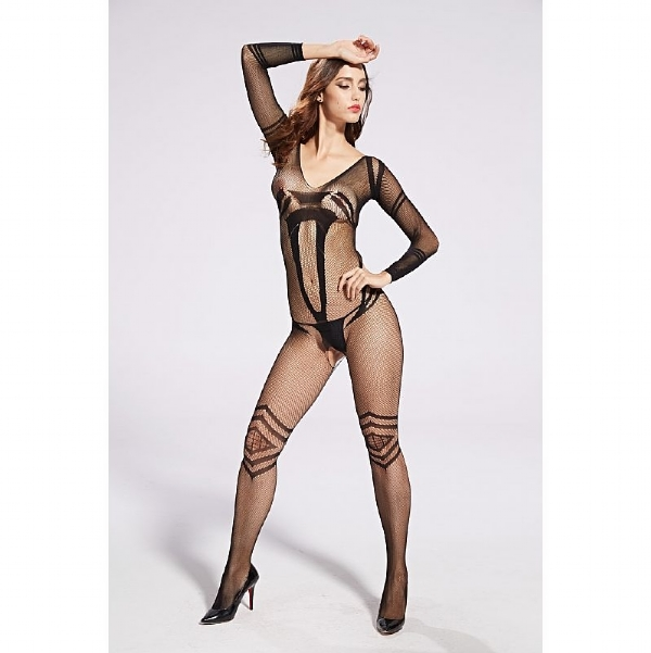 Bodystocking Macacão Rendado - 3641
