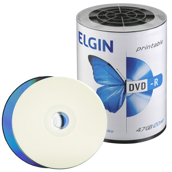 DVD-R PRINTABLE ELGIN 100 unidades