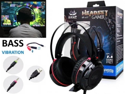 HEADSET GAMER 7.1 KNUP KP-417