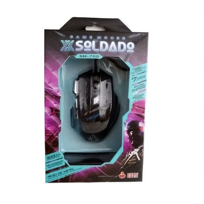 MOUSE USB OPTICO GAMER SOLDADO GM700