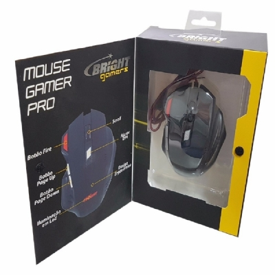 MOUSE USB OPTICO GAMER BRIGTH PRO 0465