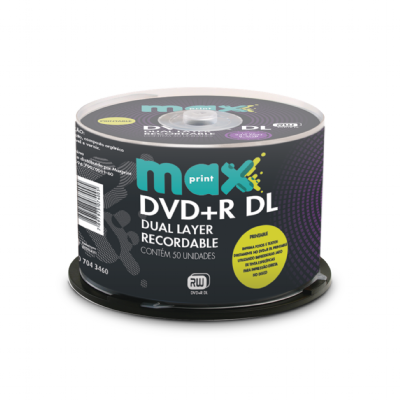 DVD+R DOUBLE LAYER MAXPRINT PRINTABLE 50 UNIDADES