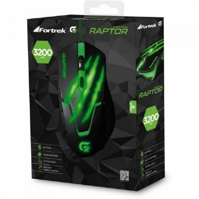 MOUSE USB OPTICO GAMER FORTREK RAPTOR OM801