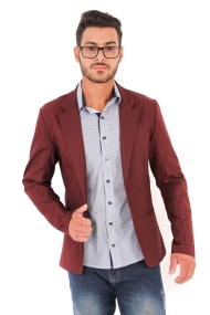 Blazer Slim Casual Bordô